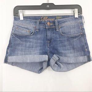 Mavi Shorts Tiara Style Denim Cuffed Hem